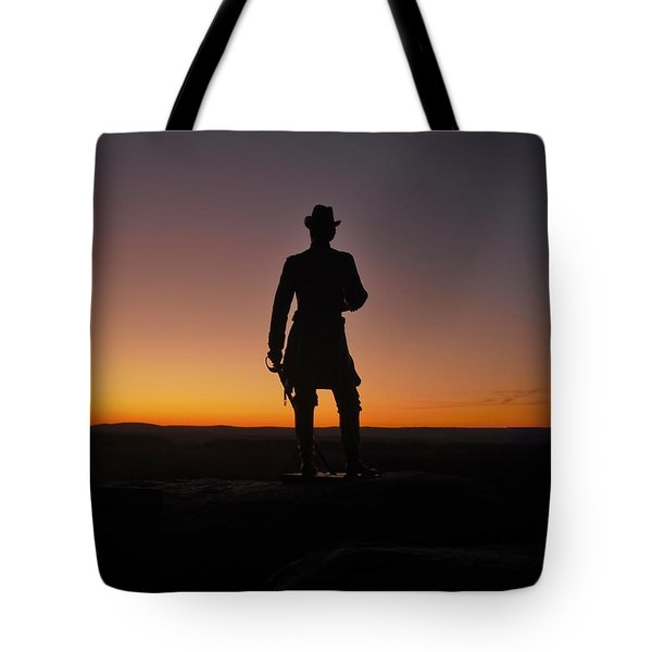 Tote Bag featuring the photograph Gettysburg Sunset by Ed Sweeney