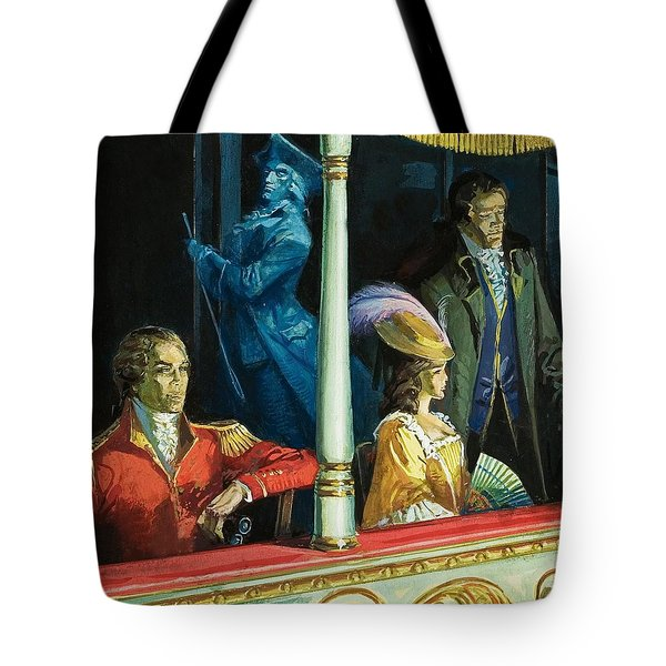 Ghost At The Theatre Tote Bag by Andrew Howat