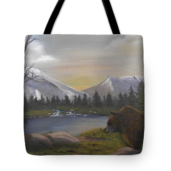 Ghost Bear-the Cascade Grizzly Tote Bag by Sheri Keith