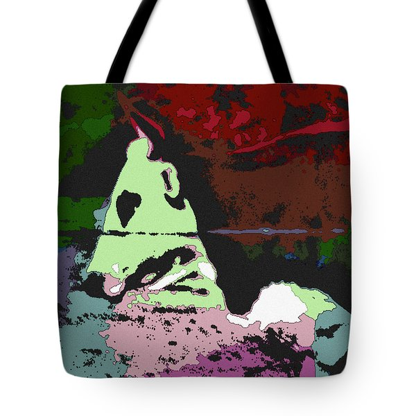Ghost Cow Tote Bag by George Pedro