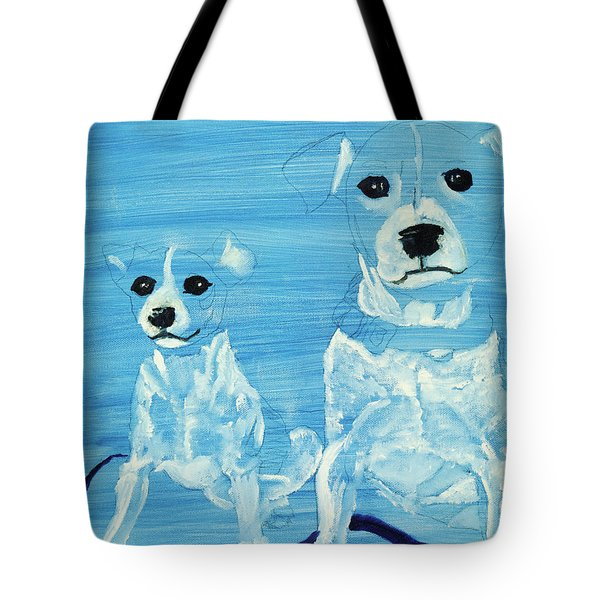 Ghost Dogs Tote Bag by Terry Lewey