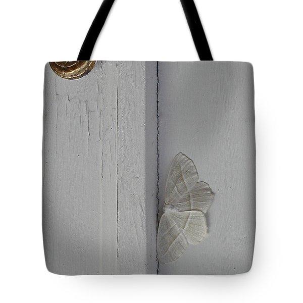 Ghost Doorbell Moth Tote Bag