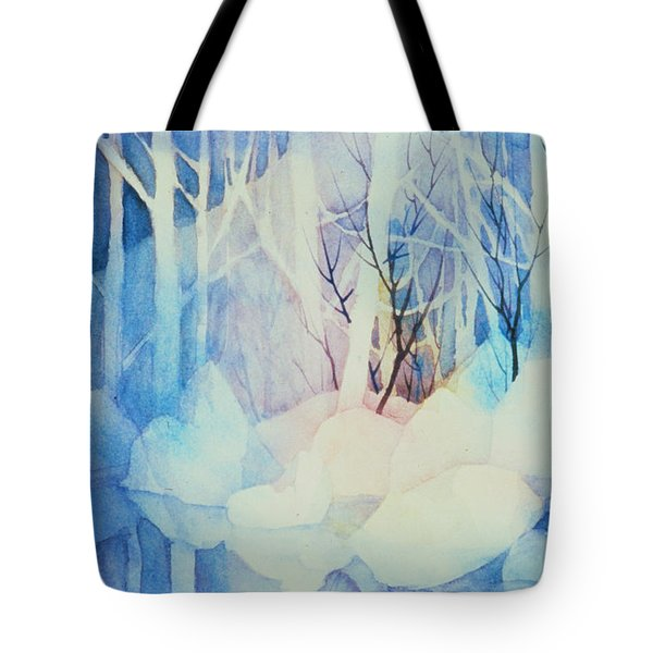 Tote Bag featuring the painting Ghost Forest by Teresa Ascone