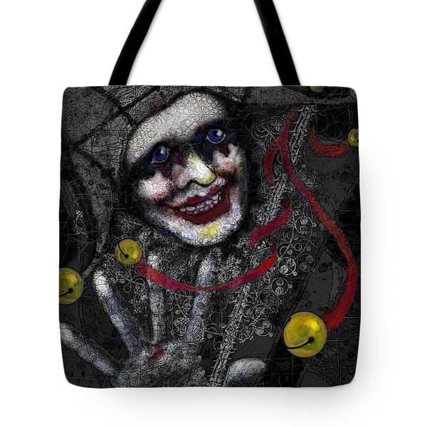 Ghost Harlequin Tote Bag by Carol Jacobs