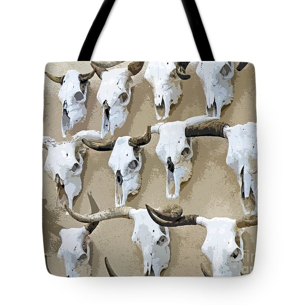 Ghost Herd On The Wall Tote Bag