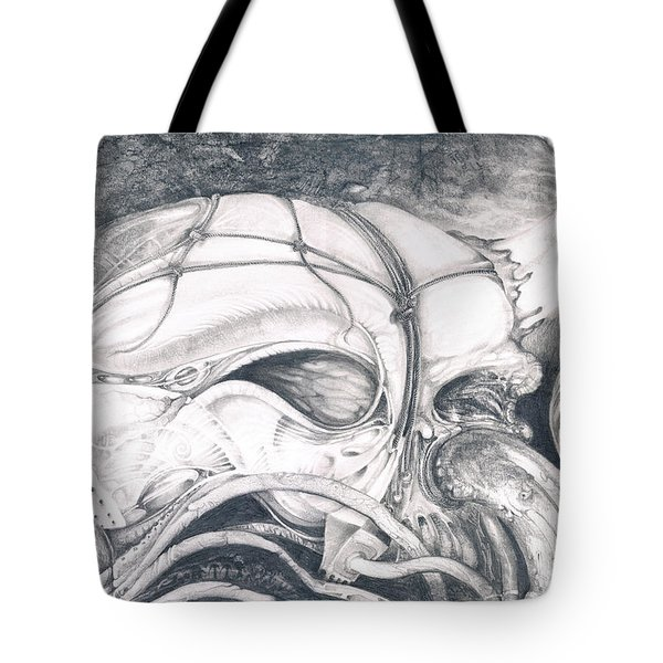 Tote Bag featuring the drawing Ghost In The Machine by Otto Rapp