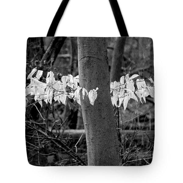 Ghost Leaves Tote Bag