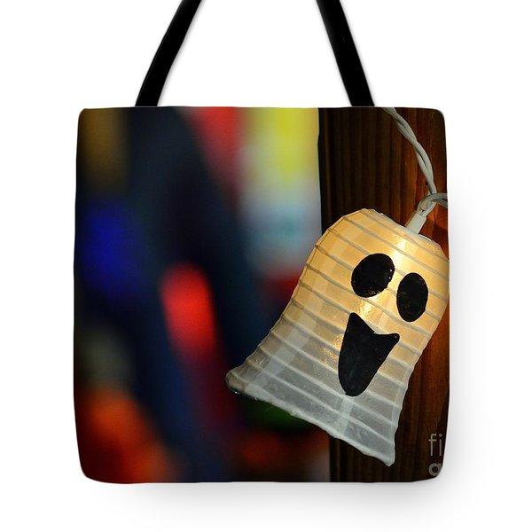 Ghost Light Tote Bag by Lisa L Silva