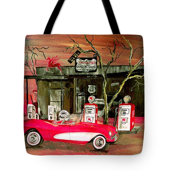 Ghost Of 66 Tote Bag by Mark Moore