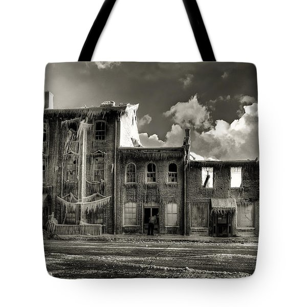 Tote Bag featuring the photograph Ghost Of Our Town by Jaki Miller