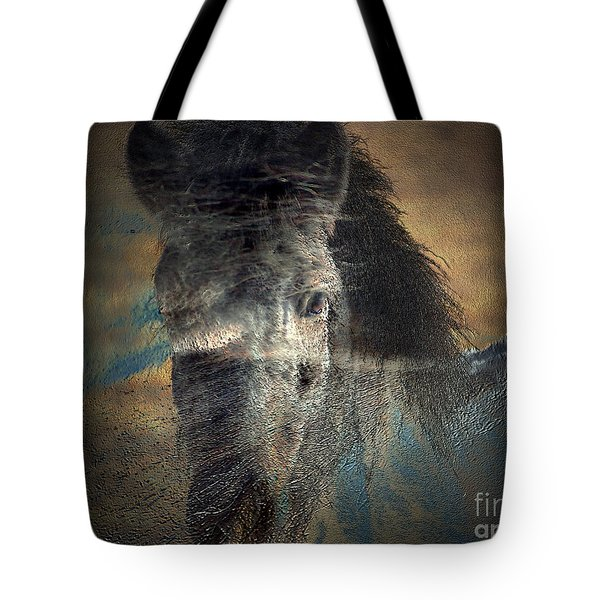 Ghost Pony Tote Bag by Irma BACKELANT GALLERIES