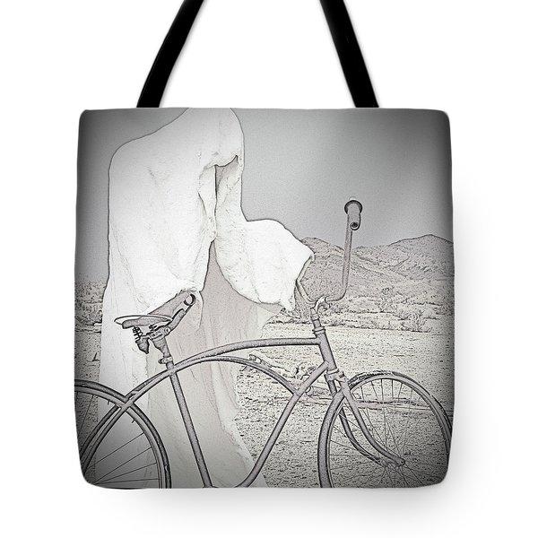 Ghost Rider Sketch Tote Bag by Marcia Socolik