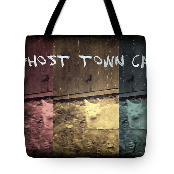Tote Bag featuring the photograph Ghost Town Cat by Absinthe Art By Michelle LeAnn Scott