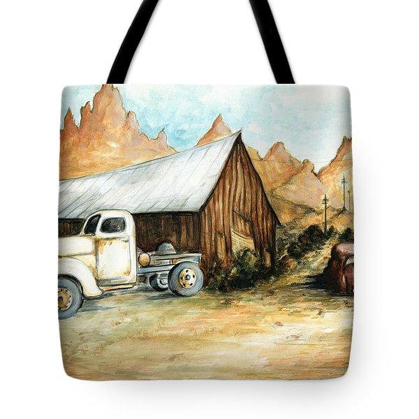 Ghost Town Nevada - Western Art Painting Tote Bag