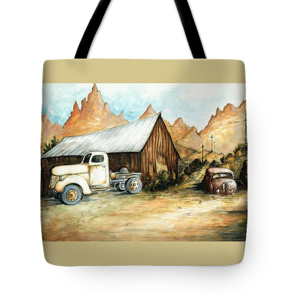 Ghost Town Nevada - Watercolor Art Tote Bag by Art America Gallery Peter Potter