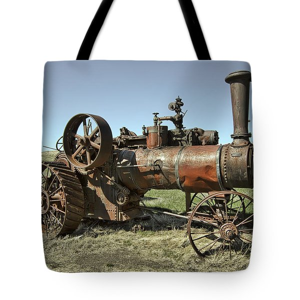 Ghost Town Steam Tractor Tote Bag by Daniel Hagerman