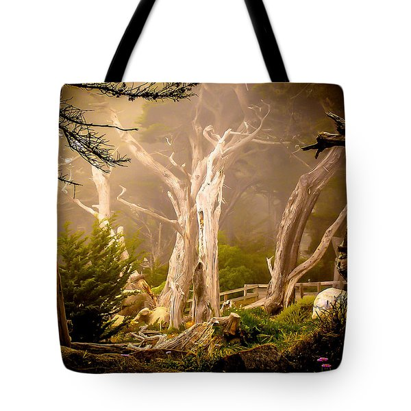Ghost Tree Tote Bag
