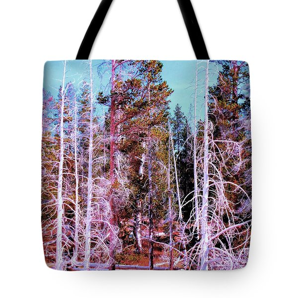 Ghost Trees Of The Yellowstone Tote Bag
