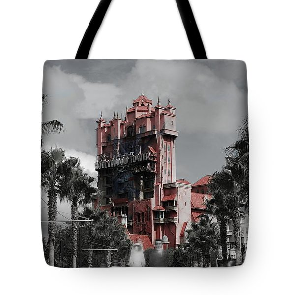 Ghostly At The Tower Tote Bag