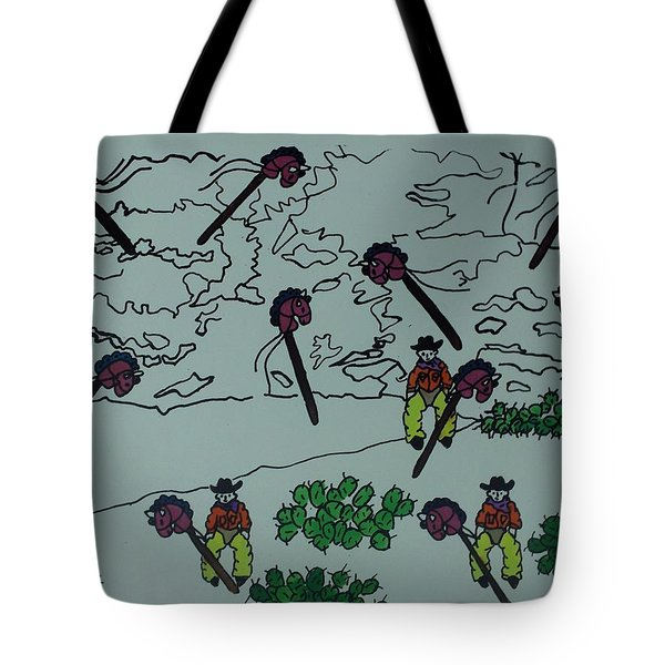 Tote Bag featuring the mixed media Ghostriders by Erika Chamberlin