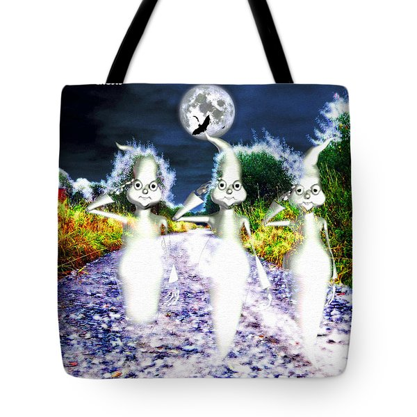 Tote Bag featuring the digital art Ghosts by Daniel Janda