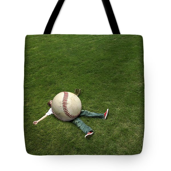 Giant Baseball Tote Bag