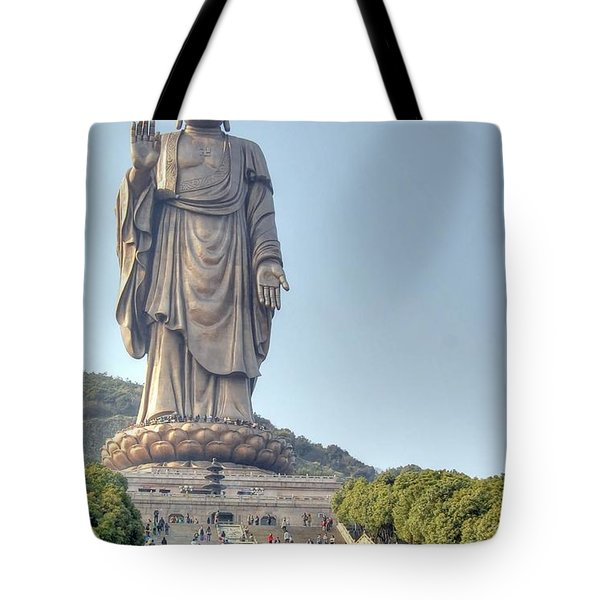 Giant Buddha Tote Bag