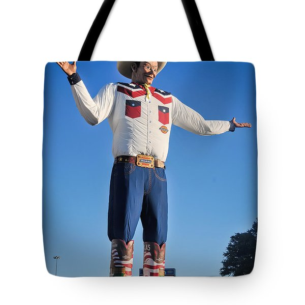 Giant Cowboy Big Tex State Fair Of Texas Tote Bag