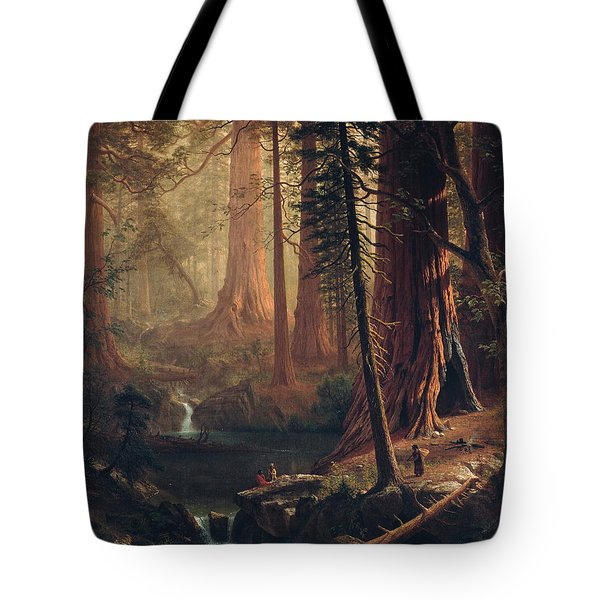 Giant Redwood Trees Of California Tote Bag