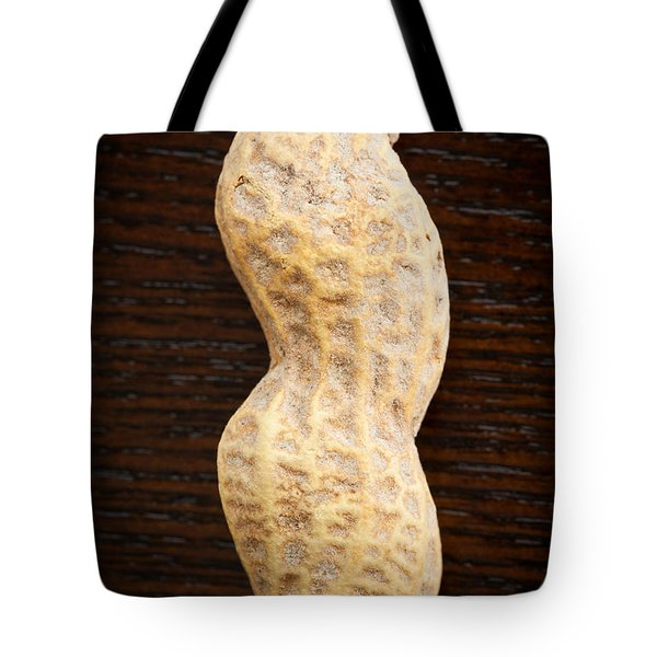 Giant Single Peanut  Tote Bag by Sharon Dominick