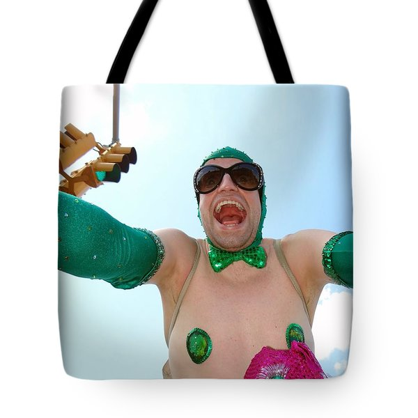 Tote Bag featuring the photograph Giant Smile by Ed Weidman