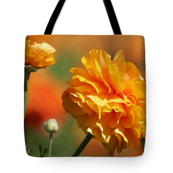 Giant Tecolote Ranunculus - Carlsbad Flower Fields Ca Tote Bag