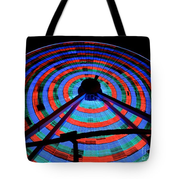 Giant Wheel Tote Bag by Mark Miller