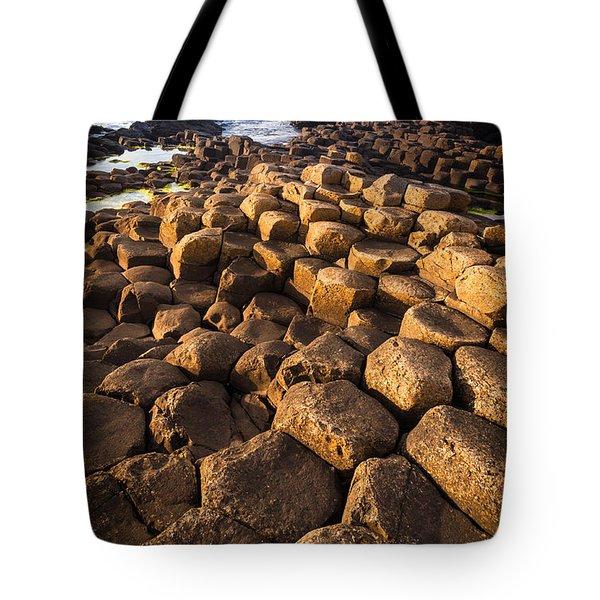 Giant's Causeway Bricks Tote Bag by Inge Johnsson