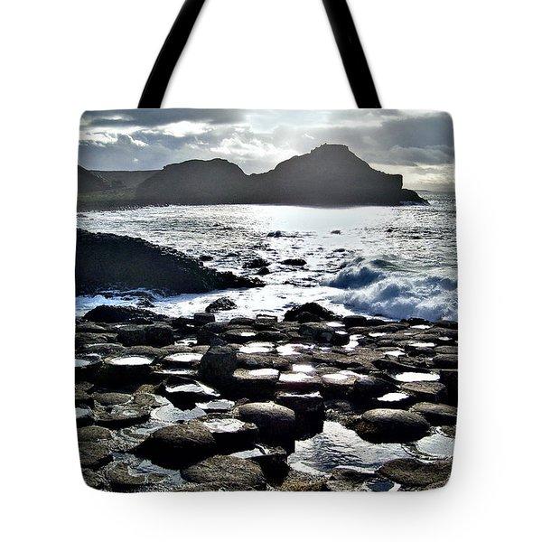 Giant's Causeway Sunset Tote Bag by Nina Ficur Feenan