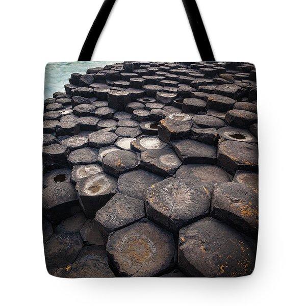 Giant's Causeway Pillars Tote Bag by Inge Johnsson