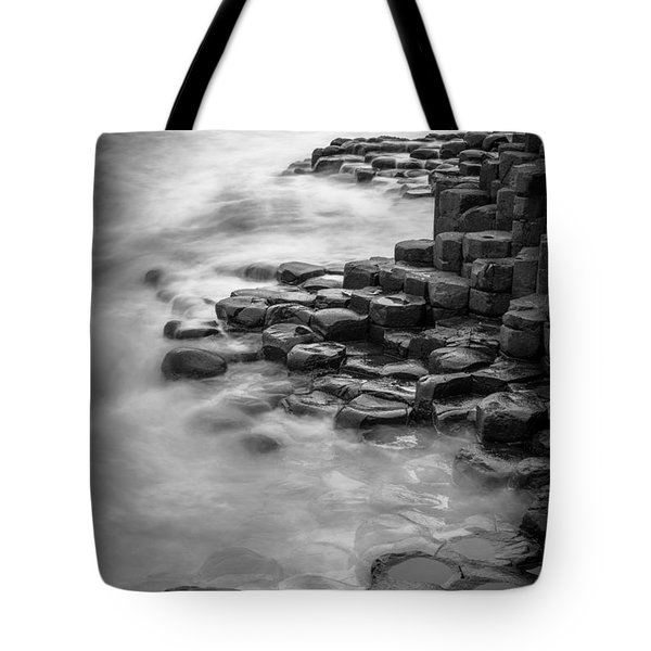 Giant's Causeway Waves  Tote Bag by Inge Johnsson