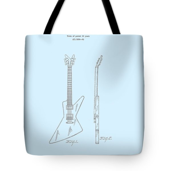 Gibson Explorer  Patent 1958 Tote Bag