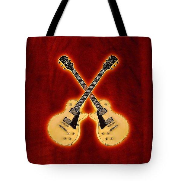 Gibson Randy Rhoads Les Paul Custom Tote Bag by Doron Mafdoos