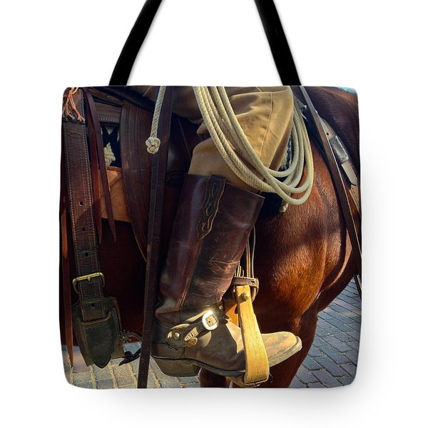 Tote Bag featuring the photograph Giddyup by Dee Dee  Whittle