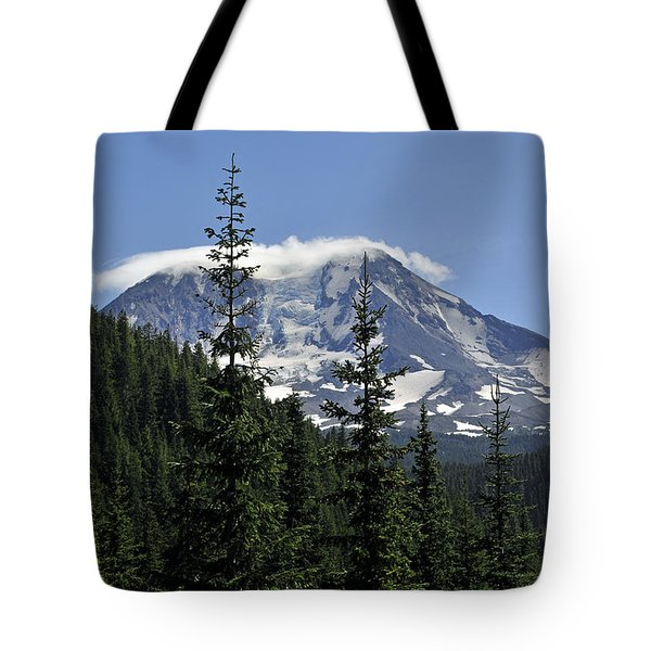Gifford Pinchot National Forest And Mt. Adams Tote Bag by Tikvah's Hope