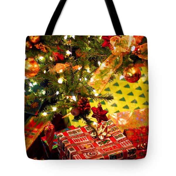Gifts Under Christmas Tree Tote Bag