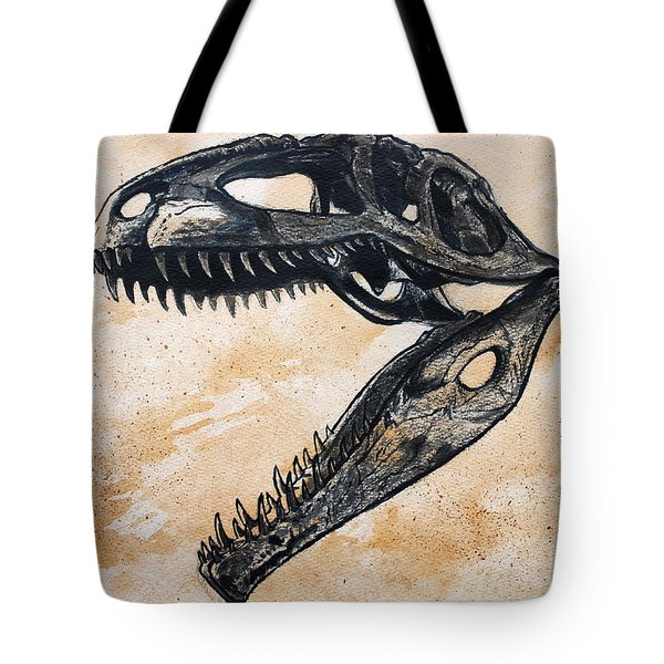 Giganotosaurus Skull Tote Bag by Harm  Plat