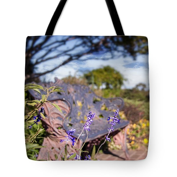 Gilcrease House Garden Flower Tote Bag by Tamyra Ayles