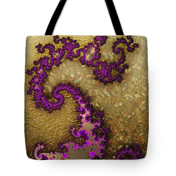 Gilded Fractal 1 Tote Bag