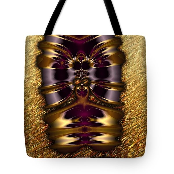 Gilded Fractal 11  Tote Bag