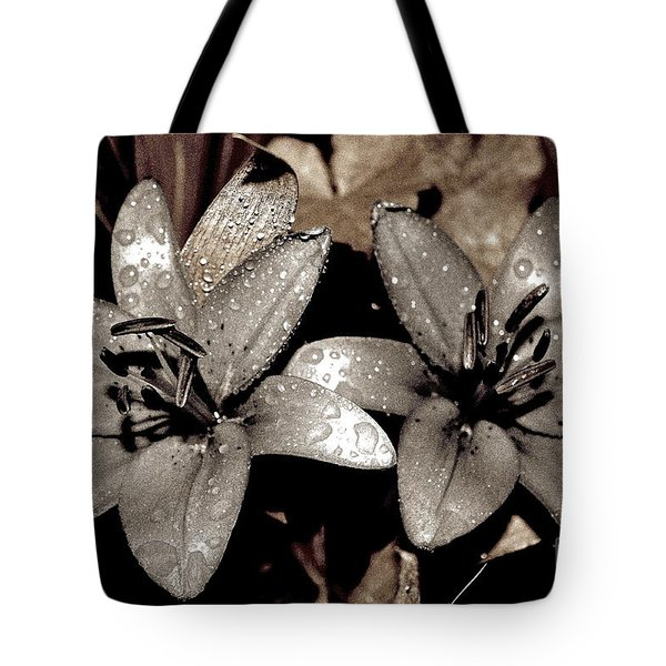 Gilded Lilies Tote Bag by Linda Bianic
