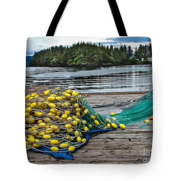 Gill Net Tote Bag by Robert Bales