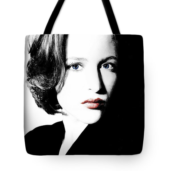 Gillian Anderson Tote Bag