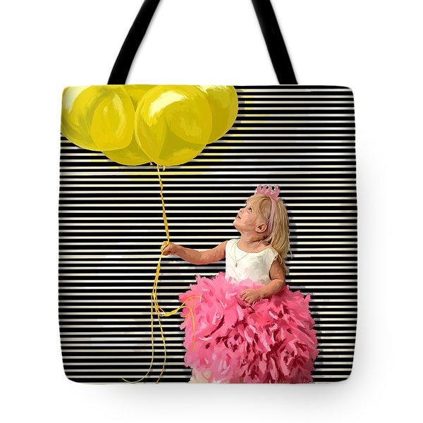 Gillian With Yellow Balloons Tote Bag